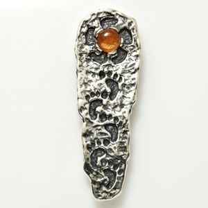 Pathway to the Sun Pendant .925 Silver Sunstone